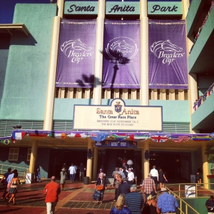 Entrance to the track at Santa Anita during Breeders' Cup 2013